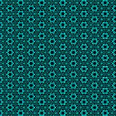 Non-vector Repeating Background Of Abstract Shapes In Turquoise And Black