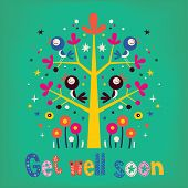 picture of get well soon  - Get well soon greeting card with cute birds - JPG