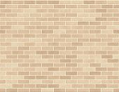 Brick Wall Seamless Background Small Bricks In Tan poster