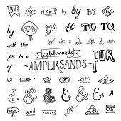 picture of ampersand  - set of chalkboard style ampersands - JPG