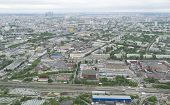 Постер, плакат: View Of Moscow From The Height Of The Ostankino Television Tower