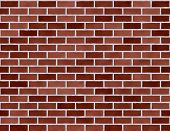 Brick Wall Seamless Background Small Dark Red poster