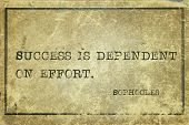pic of greek  - Success is dependent on effort  - JPG