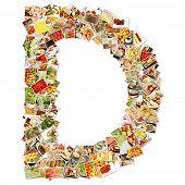 stock photo of letter d  - Letter D Uppercase Font Shape Alphabet Collage - JPG