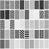 pic of trapezoid  - Set of black and white geometric seamless pattern - JPG