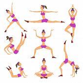 pic of surya  - Vector yoga illustration - JPG