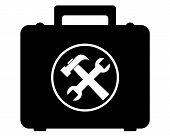 pic of locksmith  - black storage box for hand tools locksmithing - JPG