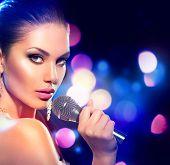 pic of karaoke  - Beautiful Singing Girl - JPG