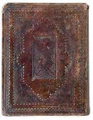 closed XIX century  vintage bible on white background