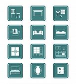 Modern home furniture collection in vector.