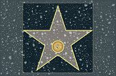 Hollywood walk of fame: live theater blank star