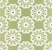 image of lace-curtain  - Seamless retro lacing pattern in grassy colors - JPG