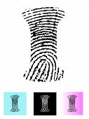 picture of alphabet letters  - Fingerprint Alphabet Letter I  - JPG