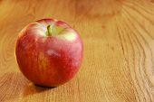 Cortland Apple On Wooden Table
