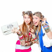 trendige Teenager