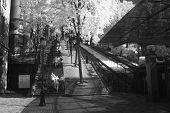 Staircase down Montmartre hill in Paris
