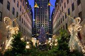 View of New York's Rockefeller Christmas tree