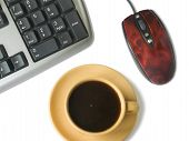 Keyboard, Mouse, Coffee Cup