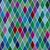 Harlequine Esmerald seamless pattern