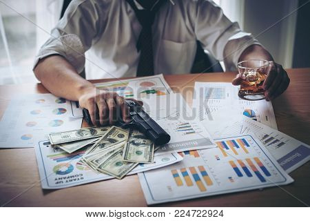 businessman stressed from work at