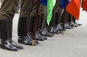 image of army cadets  - Russian soldiers - JPG