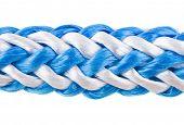 cuerda, cable aislado en blanco