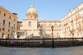 Piazza Pretoria In Palermo, Sicily
