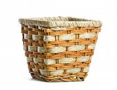 Wicker pots, Stand the pots with plants  isolated