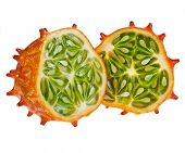 Kiwano-Frucht, isolated on white