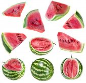 watermelon, isolated on white