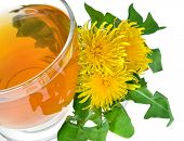 dandelion drink isolated on a white background