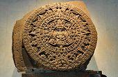 Pedra do calendário asteca - cidade do México