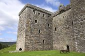Side View Of Hermitage Castle