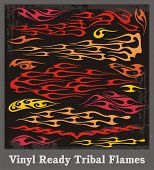 Vinyl ready tribal flames. Vector graphics, great for car, motorbike and t-shirt decals and stickers.