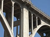 Pasadena's historic Colorado Blvd Bridge in southern California.