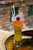 Passion Fruit Cocktail Drink