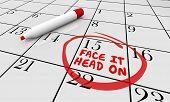 Face It Head On Calendar Challenge Goal 3d Illustration poster