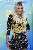 LOS ANGELES - AUG 7: Fergie aka Stacy Ferguson arrives at the 2011 Teen Choice Awards held at Gibson