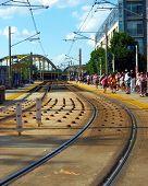 Train Tracks Lightrail Baltimore