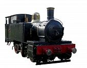 Black Miniature Steam Train