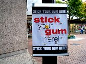 Stick Your Gum Here poster