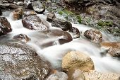 Cascading Waters On Rocks (lamington National Park, Qld, Australia)