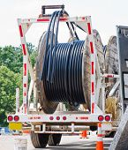 Reels Of Cable On A Truck