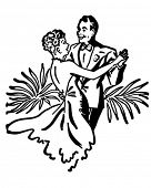 picture of ballroom dancing  - Nightclub Dance Couple  - JPG