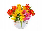 stock photo of flower-arrangement  - a bouquet of flowers in a vase - JPG