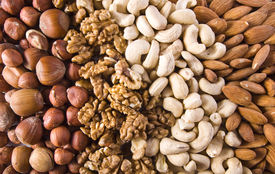 stock photo of mixed nut  -  Assorted nuts - JPG