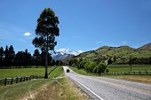 Country Road Between Queenstown And Glenorchy