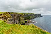 Irish Landscape Of The Rocky Cliffs Along The Coastal Walk Route From Doolin To The Cliffs Of Moher, poster