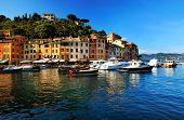 Aldeia de Portofino, Costa da Ligúria, Itália