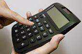the finger and calculator